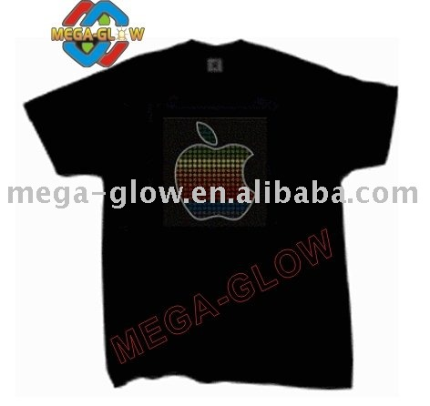 2014 new china factory manufacturer led flashing fun hot EL T shirt