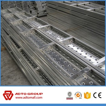 Good quality galvanized steel scaffold plank/walking board for sale for africa