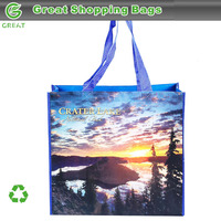 Recyclable Landscape Crater Lake National Park RPET Bag For Books