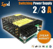 12V 2a 3a AC/DC 25W 35W CE ROHS regulated switching power supply for led strip/cctv