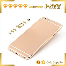 Luxury Rose Gold Housing for iPhone 6 Plus , Mirror Rose Gold Plated Back Housing Cover for iPhone 6 plus