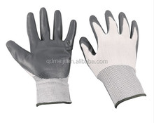 New design coated nitrile hand job gloves nylon shell working gloves coated with nitrile