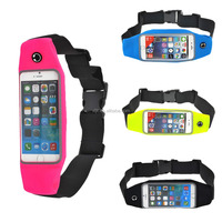 new product 2015 running belt bag waterproof waist bag for iphone 6 Lycra running belt