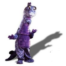 HI CE good quality purple dinosaur monster mascot costume custom cosplay mascot costumes for sale
