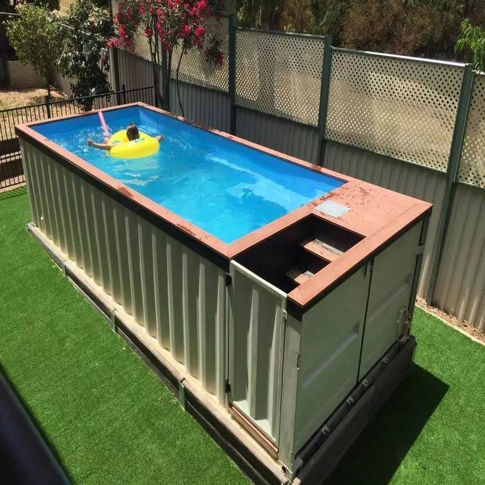 Outdoor Glass Wall Steel Structure Shipping Container Swimming Pool - Buy  Container Swimming Pool,Container Pool,Pool Container Product on Alibaba.com