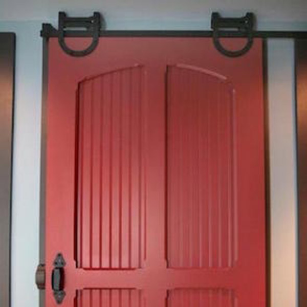 6.5Ft Upscale Barn Door Hardware Security Gate For Patio Doors