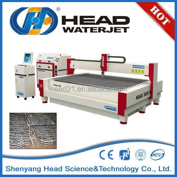 Large production runs water jet heat treated metals cutting