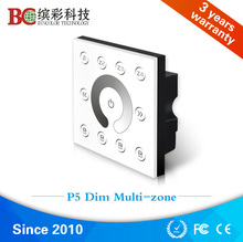 Wall mounted 4 zones control DMX512 led dimmer, touch panel dmx 4 channel controller