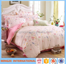 factory price print custom 100% cotton bedding set/quilt cover/bed sheet