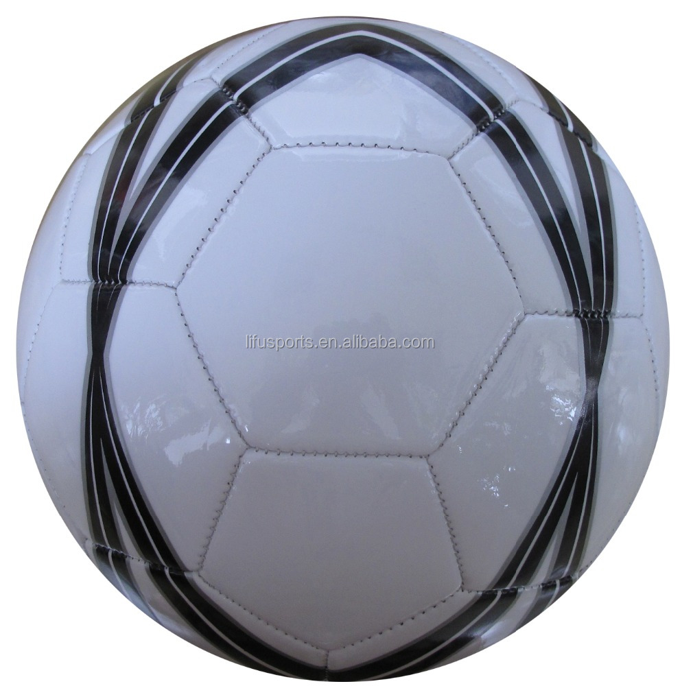 2017 New design cheapest machine stiched soccer ball