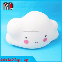 2017 Novelty Cloud led Night Light For Kid, Cute Baby 3D small Safe night light lamp