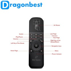 Rii mini I7 air mouse for TV box Cheap wireless keyboard 2.4Ghz Rii mini I7 Fly air mouseTablet Laptop Rii mini I7 fly air mouse