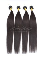 "Micro Ring Loop Hair Extension Top Quality Straight Color 1B# 18"" Brazilian Virgin Remy Hair 100 Strands/Bundle"