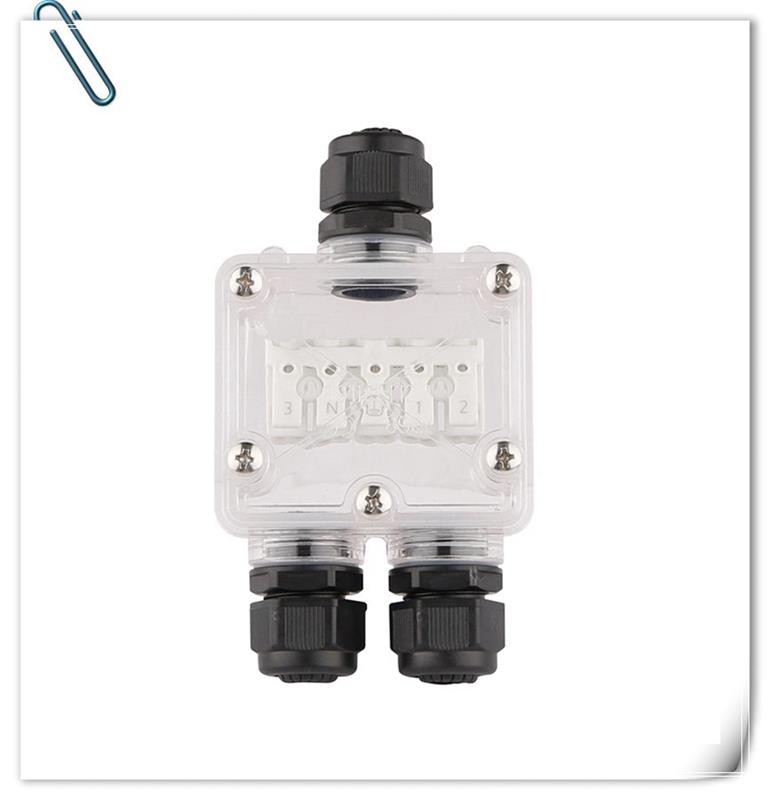 Factory supply electrical plastic cable mini junction box with tube connection for led luminary