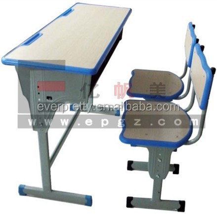 College MDF Double School Desk and Chair, School Furniture Supplier