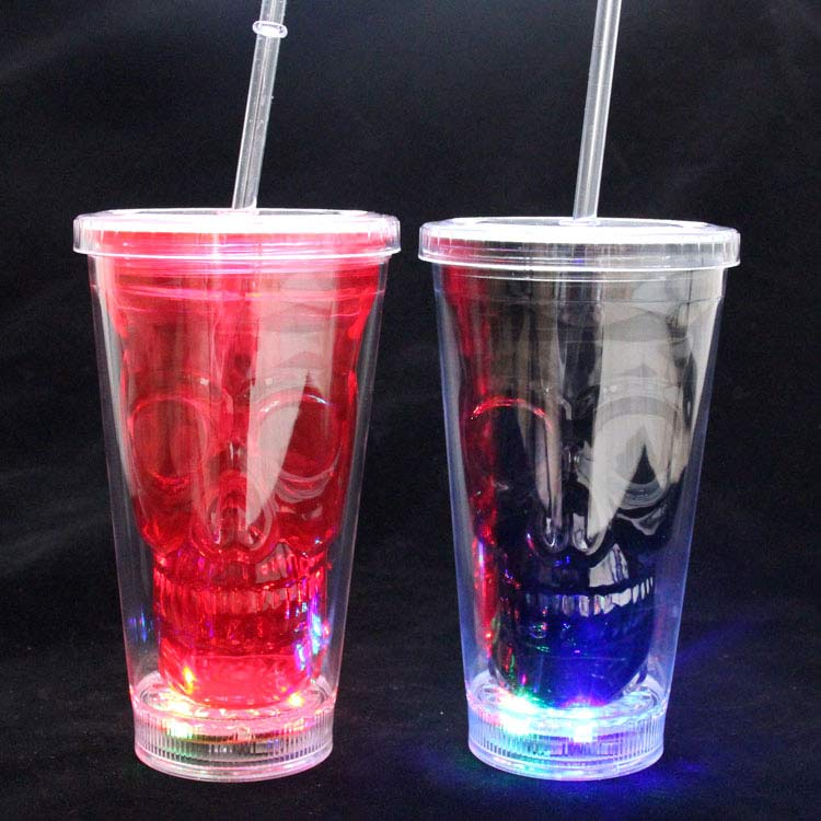 Hot selling glow in the dark clear plastic bachelorette party cups
