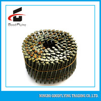 15 to 16 Degree Ring Shank Wire Welded Electric Galvanized Coil Nails