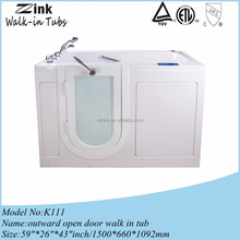 Zink deep hot tub with seat portable bathtub
