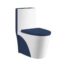 Chaozhou Sanitaryware Luxury Elegant Blue Toilet Set