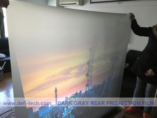 Transparent holographic film for window shop dispay,Auto show, wedding photo studio, bank, gym, store, restaurant