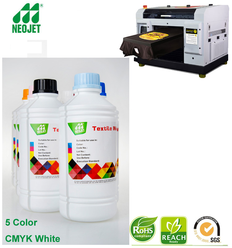 dtg white ink bulk item hot textile pigment printing ink for anajet printer dtg tshirt printer printing machine