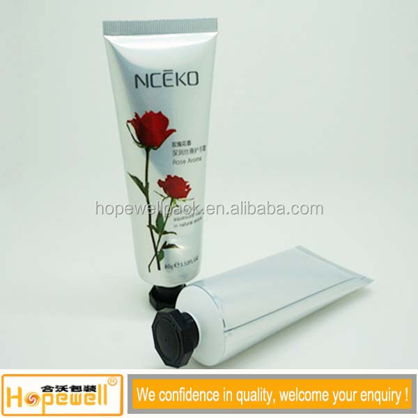 Factory Guangzhou packaging gloss laminated clear plastic tube for crafts cosmetic lotion tube with lip