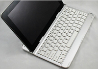 High Quality Metallic Design bluetooth 3.0 keyboard with adjustable bracket design