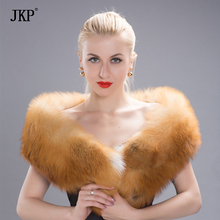 2017 Women Men Long Natural Red Fox Silver Fox Fur Scarf Genuine Luxury Soft Red Fox fur wide Scaves Shawls