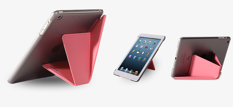 Case for Apple Pad Mini 1&2 with PU Leather+ PC Transparent backcase,slim armor protective case for Apple Pad Mini 1&2.