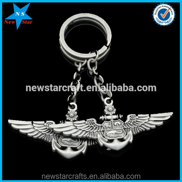Custom Antique Plating 3D Shaped Metal Keychains