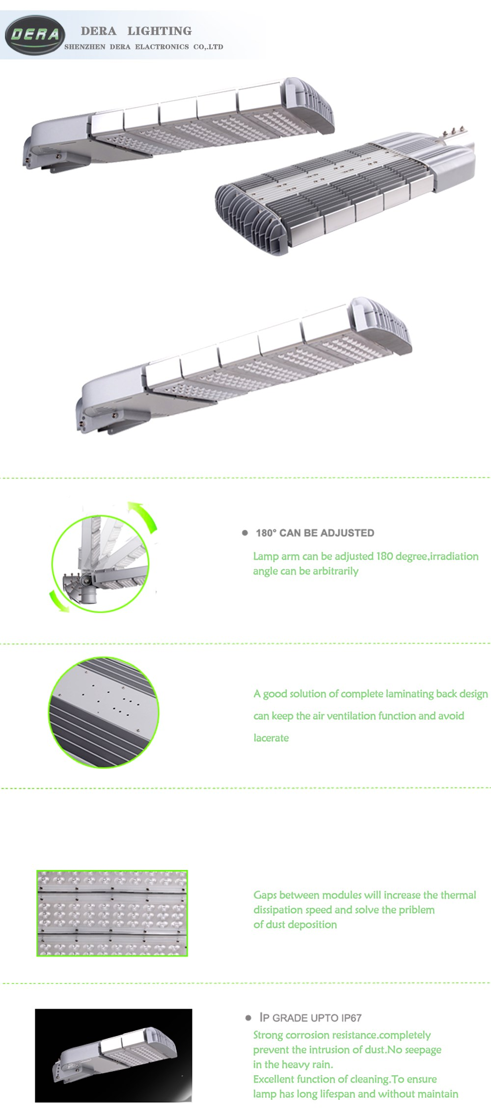 Big discount china supplier 250w led solar street lighting led street light price lamp
