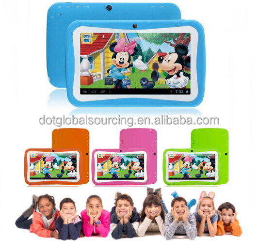 "Smart Quad Core 7"" Tablet for Kids 8GB HD Android 4.4 Camera Wi-Fi Bluetooth Children Android Tablet"