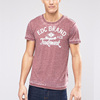 Wholesale fashion sport t shirt custom acid wash printing cotton short sleeve men t shirts