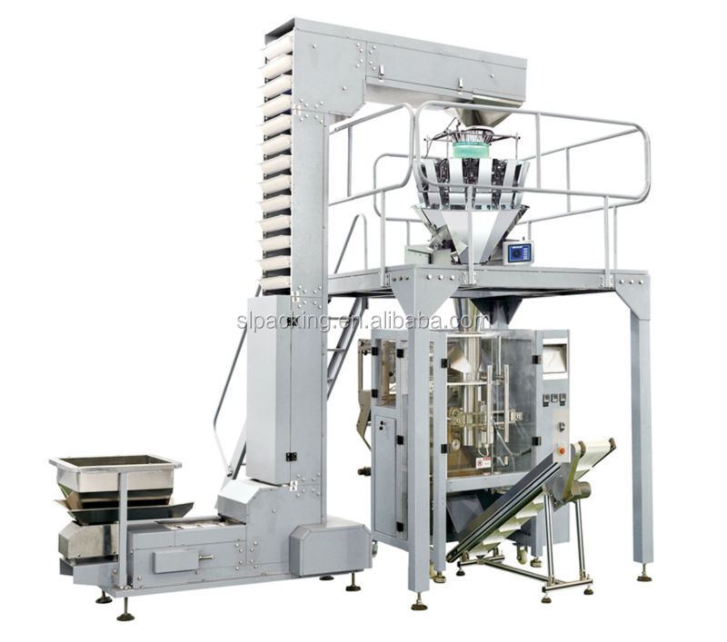 automatic 10 head weigher packing machine for seed,nut,chips,bean,pasta,biscuit,chocolate,dumpling,rice,mushroom