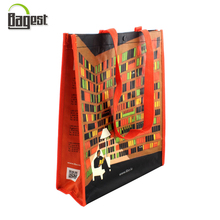Laminated tote shopping carrier pp woven bag