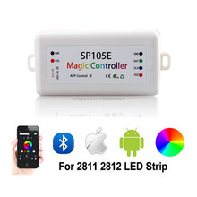 Magic Controller Bluetooth DC5-24V 2048 Pixels WiFi Bluetooth Controller for WS2811 6803 IC LED Strip Support IOS / Android APP