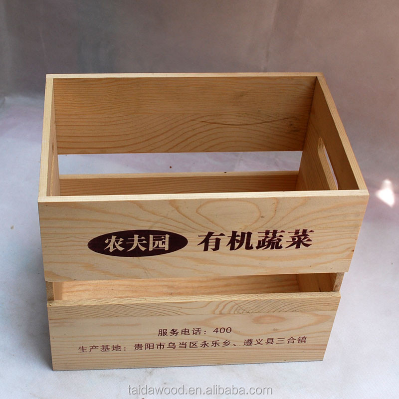 Eco-Friendly,Stocked Feature and Storage Boxes & Bins Type Wooden fruit crates