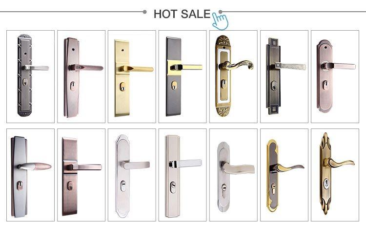 Stainless steel door handle lock, european design handle door lock ...