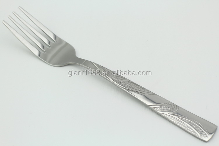 Classic Nice Plant Design Stainless Steel Silverware For Supermarket