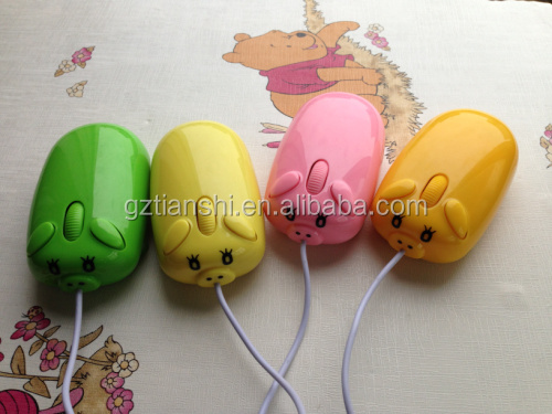 New model colorful bulk computer cartoon wired optical mouse