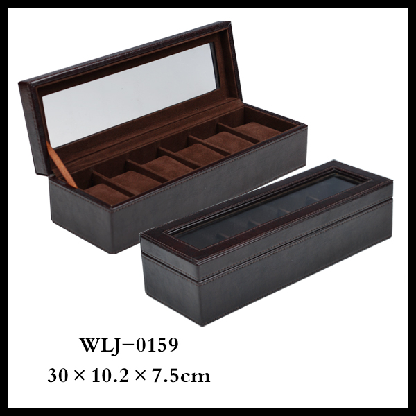Stock Luxury Display Wooden Watch Box Leather Watch Cases