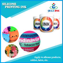 Fast drying ink for silicone