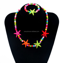 Fashion African Children Jewelry Sets Costume Starfish Style African Necklace BraceletJewelry Set