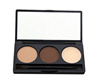 Professional makeup palette 3 color eyebrow powder palette with eyebrow brush