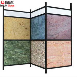 Spin flip metal board display shelf slab stone tile rack sample cardboard evawood sink stand