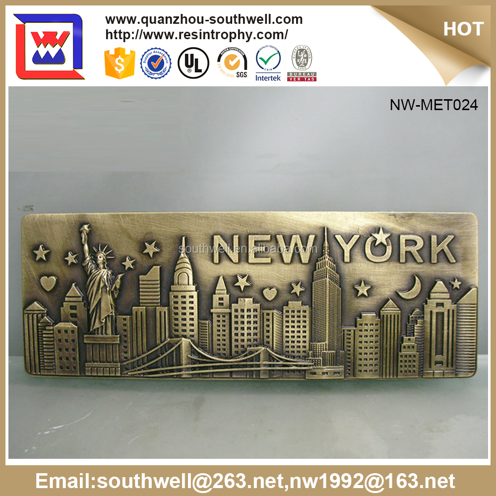 Directly Factory Personalized Metal/Zinc Alloy 5*7Cm Souvenir Gift