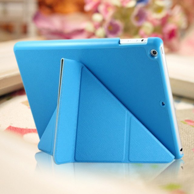 For iPad 4 iPad 3 iPad 2 Transformers Folding Stand Cover Magnetic Leather case