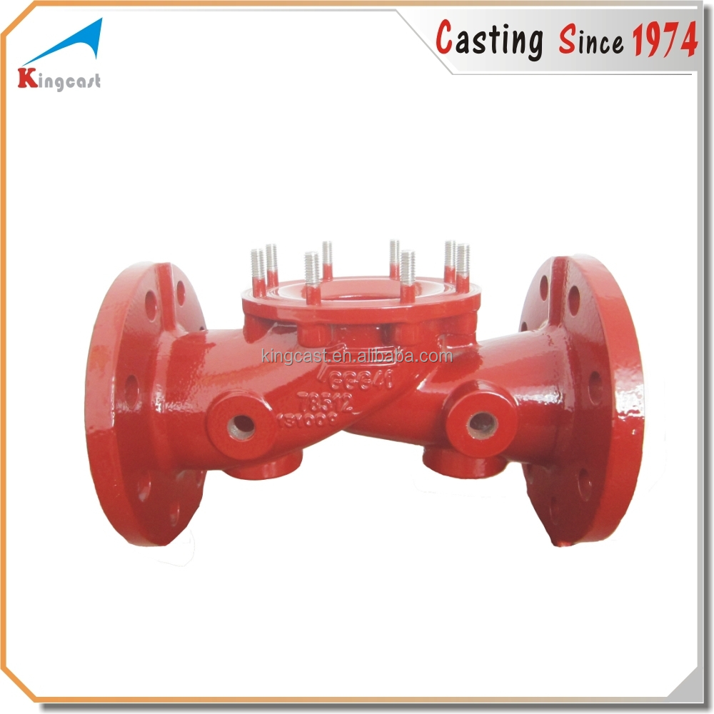 OEM foundry sand molding cast iron water valve cover casting