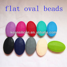 Rubber Loose Oval Beads/2014 Custom Cute Rubber Loose Oval Beads/BPA Free and FDA Approval/ Made in China Kean