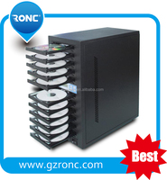 CD DVD copier 1 tower with 10pcs trays manufactory cd dvd duplicator